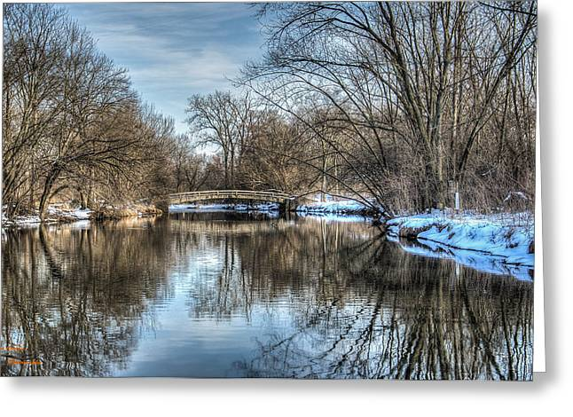 Winter Creek Greeting Card by Dan Crosby