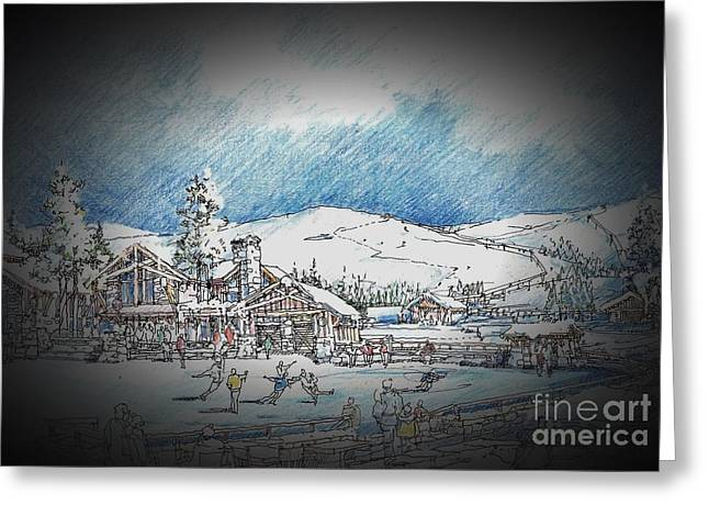 Winter Dance Greeting Card by Andrew Drozdowicz