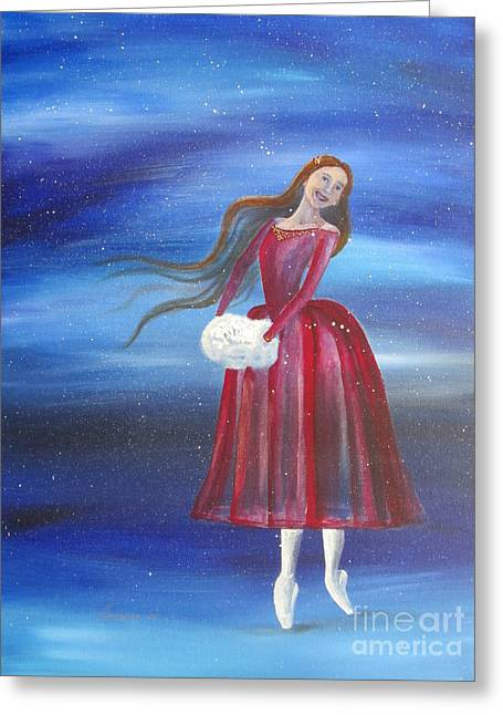 Winter Dancer3 Greeting Card by Laurianna Taylor