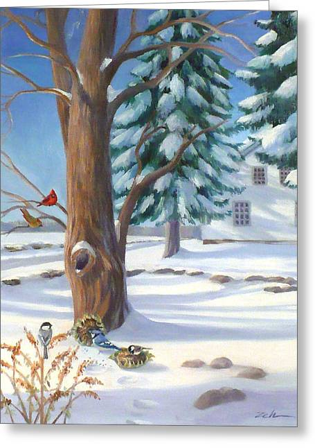 Winter Day Greeting Card by Janet  Zeh