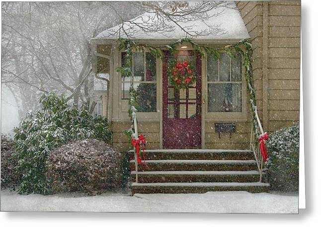 Winter - Dreaming Of A White Christmas Greeting Card by Mike Savad