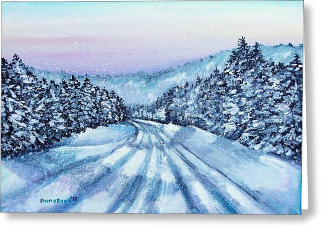 Winter Drive Greeting Card by Shana Rowe Jackson
