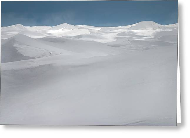 Winter Dunes Greeting Card by Leland D Howard