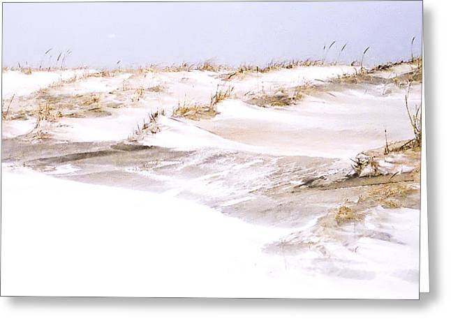 Winter Dunes Greeting Card by William Walker
