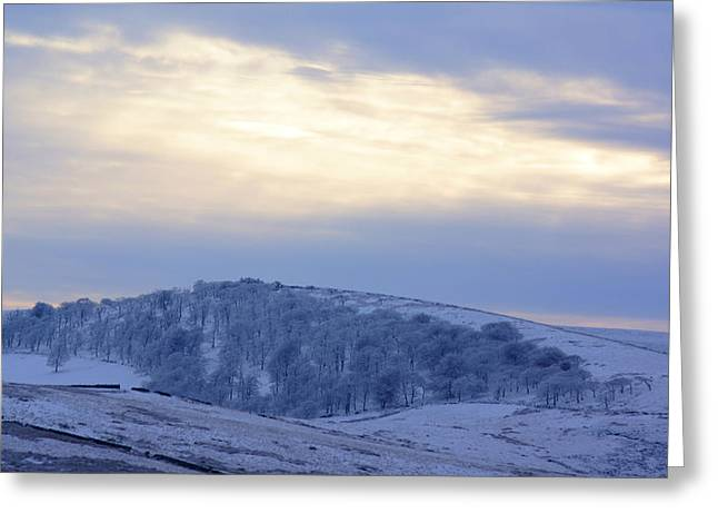 Winter Dusk Near Buxton Greeting Card by David Birchall