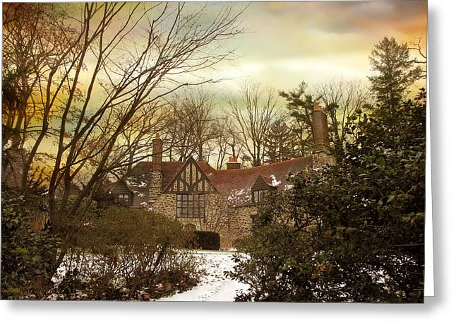Winter Estate Greeting Card by Jessica Jenney