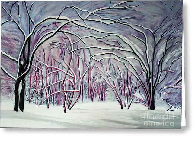Winter Fairies Greeting Card by Barbara McMahon