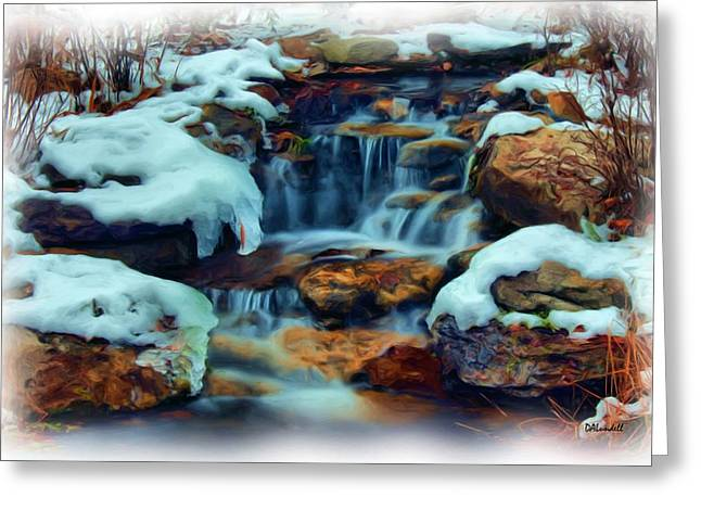 Winter Falls Greeting Card by Dennis Lundell