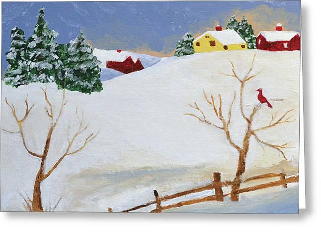 Winter Farm Greeting Card by Bryan Penzer