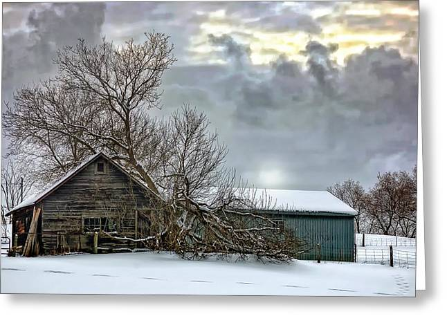 Winter Farm II Greeting Card