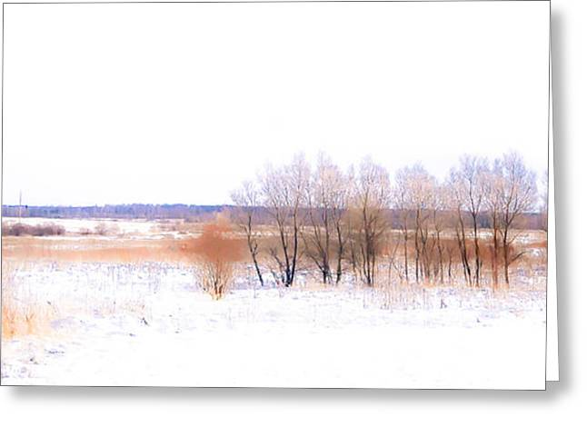 Winter Fields. In Color Greeting Card