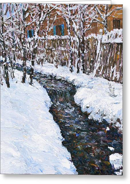 Winter Flowing Greeting Card by Steven Boone