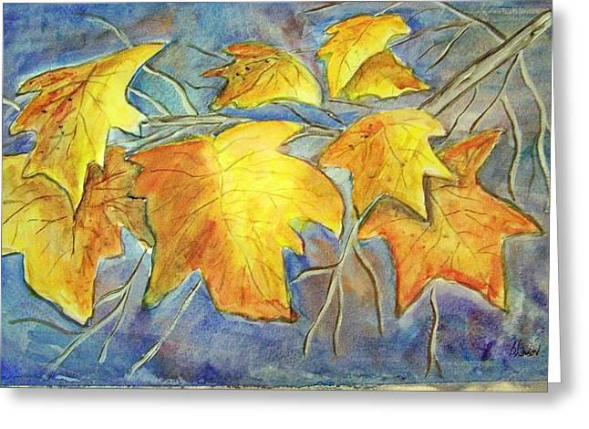 Winter Foliage Greeting Card by Belinda Lawson