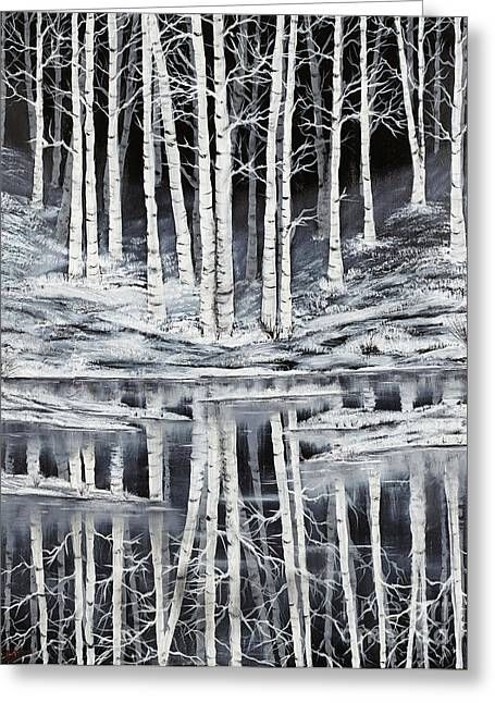 Winter Forest Greeting Card by Premierlight Images