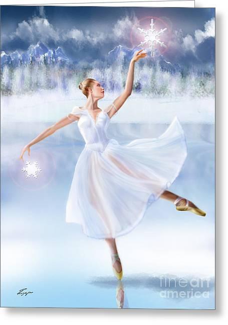 Winter Frost - Seasonal Winds Series 2 Of 4 Greeting Card by Reggie Duffie