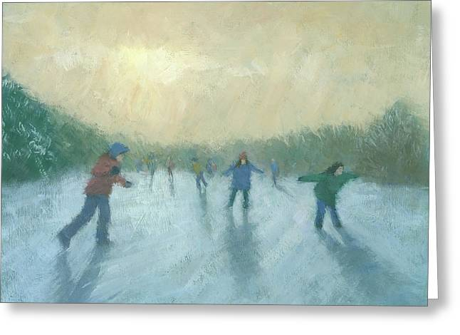 Winter Games Greeting Card by Steve Mitchell