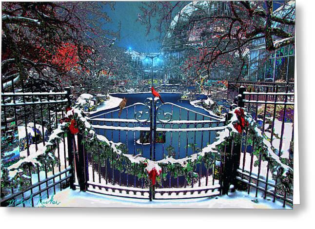 Winter Garden Greeting Card