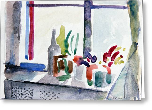 Winter Garden Nyc Greeting Card by Mark Lunde
