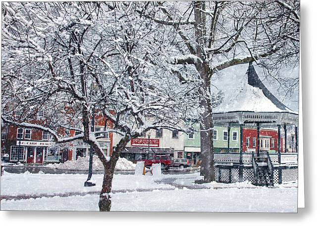 Winter Gazebo Greeting Card by Joann Vitali