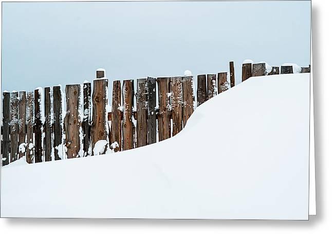 Winter Geometry 4. Russia Greeting Card by Jenny Rainbow