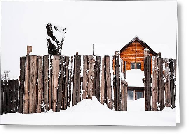 Winter Geometry 5. Russia Greeting Card by Jenny Rainbow