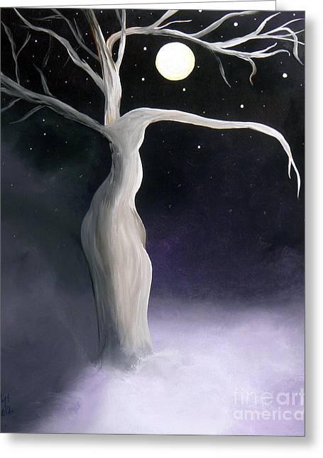 Winter Goddess Greeting Card by Alys Caviness-Gober