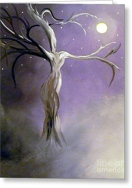 Winter Goddess II Greeting Card by Alys Caviness-Gober