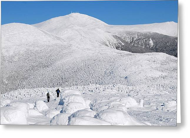 Winter Hike In The Southern Presidential Range Greeting Card
