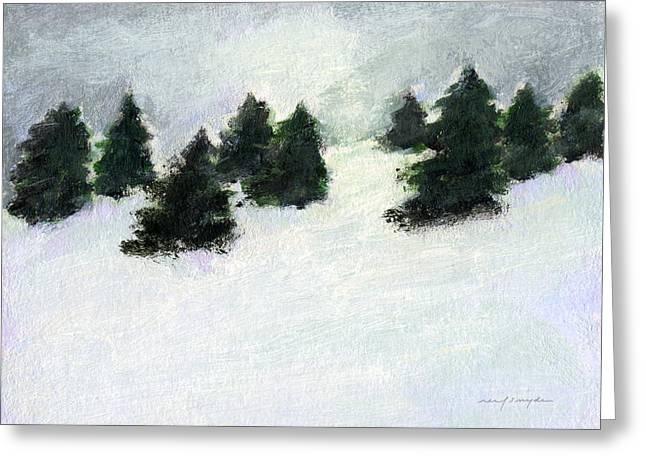 Winter Hill Greeting Card by J Reifsnyder