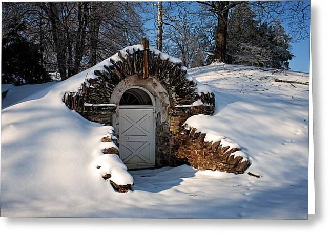 Winter Hobbit Hole Greeting Card