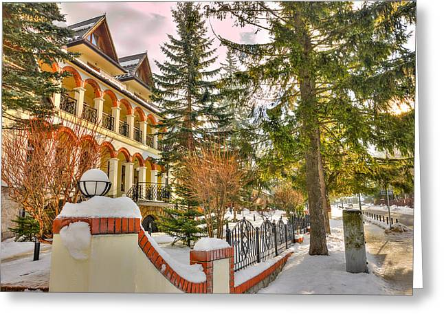 Winter Hotel Greeting Card by Pati Photography