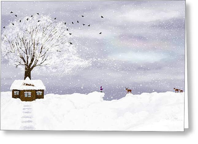 Winter Illustration Greeting Card