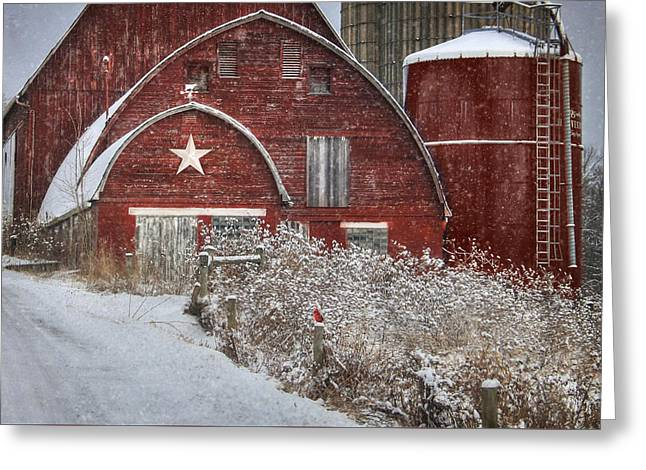 Winter In Bradford County Greeting Card by Lori Deiter