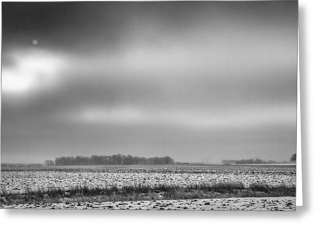 Winter In Farm Country Greeting Card by Thomas Young
