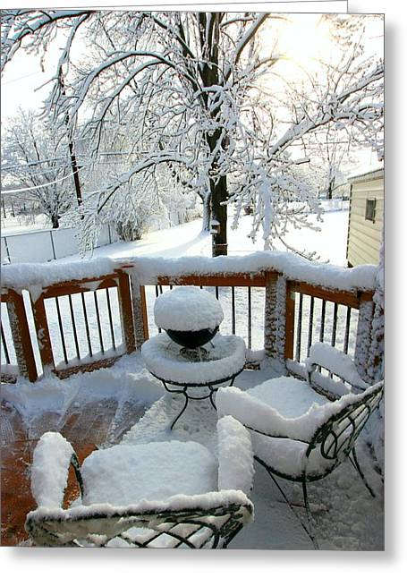 Winter In Minnesota Greeting Card by Amanda Stadther