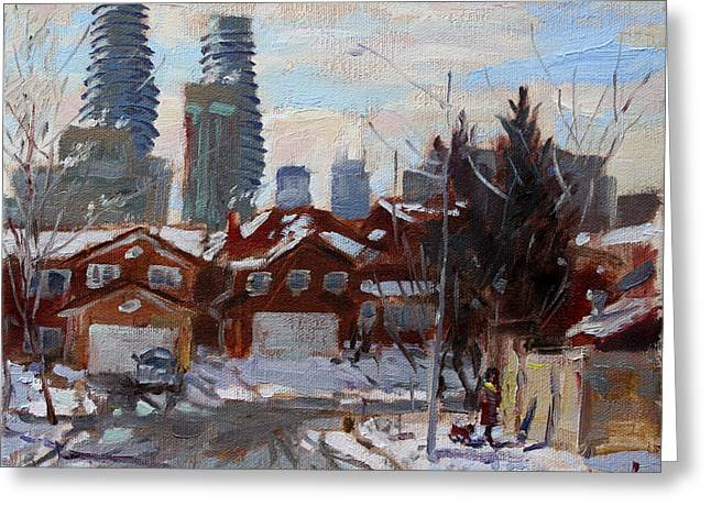 Winter In Mississauga  Greeting Card by Ylli Haruni