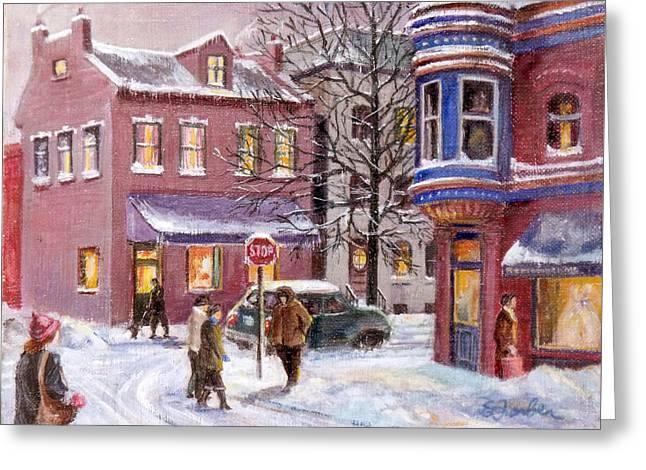 Winter In Soulard Greeting Card