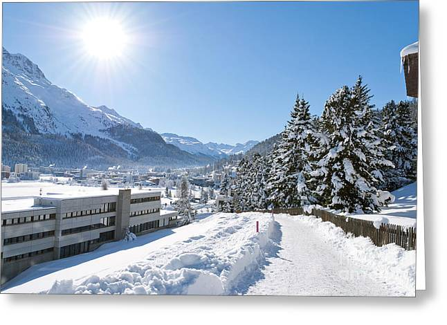 Winter In St. Moritz  Greeting Card by Design Windmill