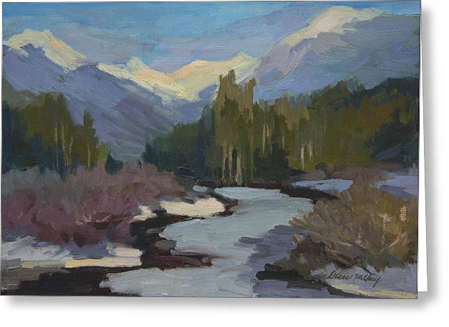 Winter In The Cascade Mountains Greeting Card by Diane McClary