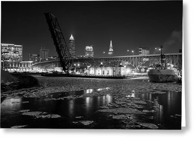 Winter In The Cleveland Fats Greeting Card