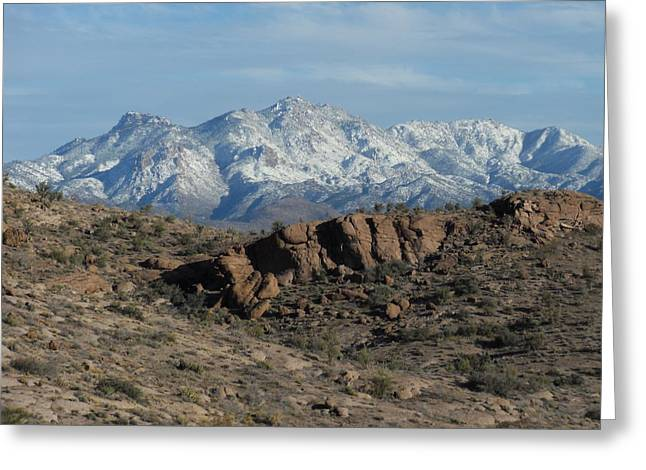 Winter In The  Mohave Desert Greeting Card