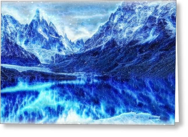 Winter Is Coming - Game Of Thrones Landscape Greeting Card by Lilia D