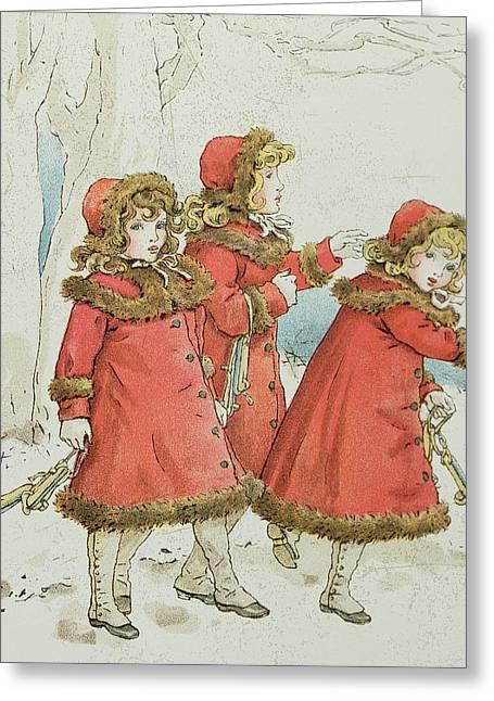Winter Greeting Card by Kate Greenaway