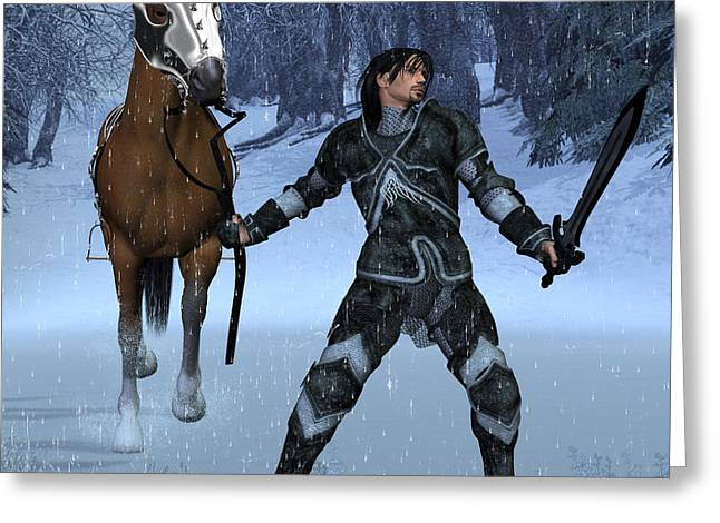 Winter Knight Greeting Card