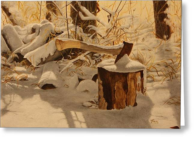 Winter Labour Greeting Card