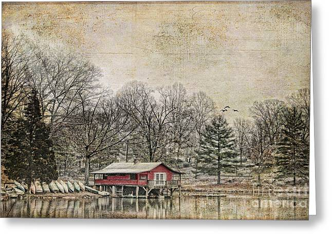 Winter Lake Greeting Card by Darren Fisher