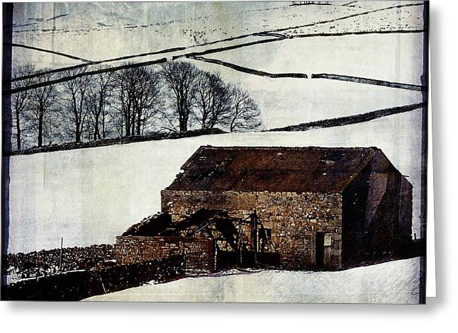 Winter Landscape 1 Greeting Card by Mark Preston