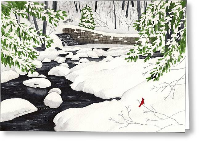 Winter Landscape - Mill Creek Park Greeting Card