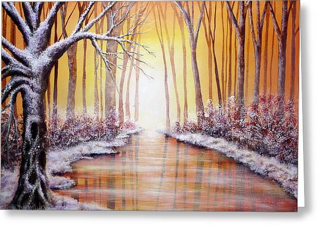 Winter Light Greeting Card by Ann Marie Bone