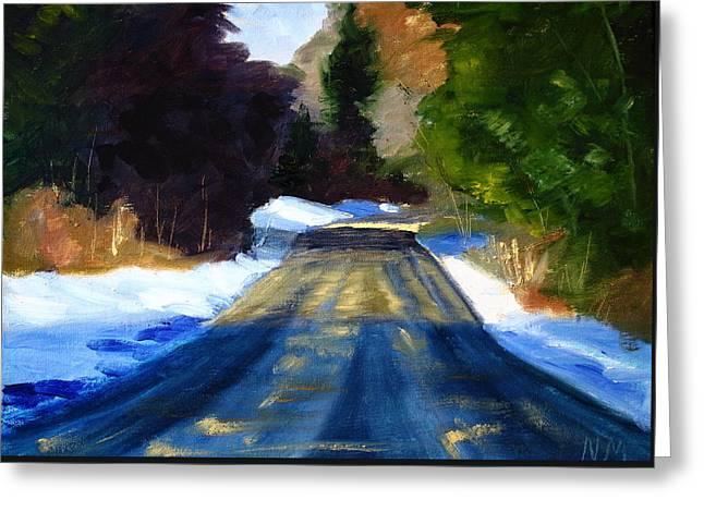 Winter Light Greeting Card by Nancy Merkle